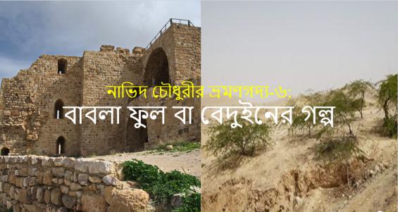 নাভিদ চৌধুরীর ভ্রমণগদ্য-৬: বাবলা ফুল বা বেদুইনের গল্প