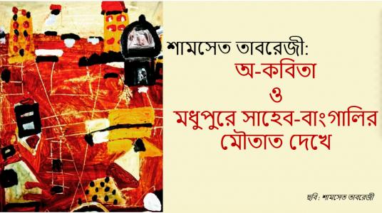শামসেত তাবরেজী: অ-কবিতা ও মধুপুরে সাহেব-বাংগালির মৌতাত দেখে